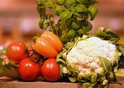 Frisches Gemüse vom Supermarkt in Weiden